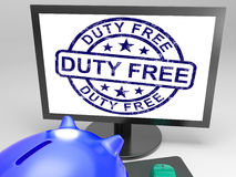 Duty Free Stamp Shows Untaxed Purchase Stamp Royalty Free Stock Photos