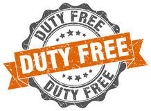 Duty free stamp Royalty Free Stock Photos