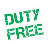 Duty Free stamp typ. Duty Free stamp. Typographic label, stamp or logo Royalty Free Stock Image
