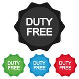 Duty Free Star Emblem - Colourful Vector Icons For Apps And Websites. Isolated On White Background Royalty Free Stock Image