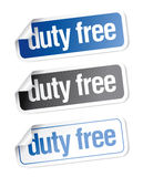Duty free stickers Stock Image