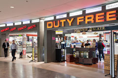 Duty free store at the airport Royalty Free Stock Photo