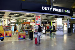 Duty free store Royalty Free Stock Image