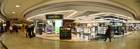 Duty free stores royalty free stock photography