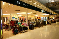 Duty Free at Suvarnabhumi Airport. Duty Free Shopping area at the Departure Hall of Suvarnabhumi Airport (Bangkok International Airport), Thailand Stock Photo