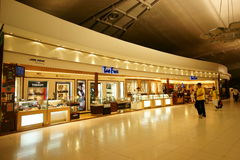 Duty Free at Suvarnabhumi Airport. Duty Free Shopping area at the Departure Hall of Suvarnabhumi Airport (Bangkok International Airport), Thailand Stock Photos