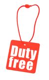 Duty free tag on white Royalty Free Stock Image