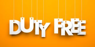 Duty Free. Text on the string Royalty Free Stock Images