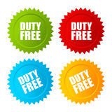 Duty free vector label. S set Stock Photography