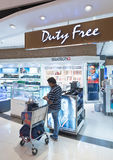 Duty free watches shop, Bangkok Stock Photography