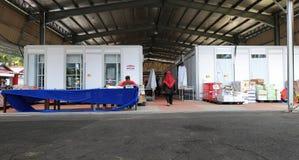 Duty-free zone Tasik Kenyir. HULU TERENGGANU, MALAYSIA - August 15,2017: Pengkalan Gawi  duty-free zone Tasik Kenyir officially opened by MB Ahmad Razif on Royalty Free Stock Image