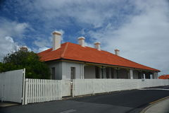 Duty Station. By the lighthouse road of Byron Bay Royalty Free Stock Photo
