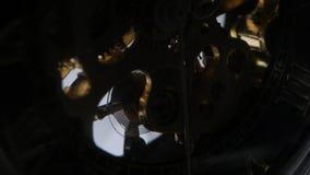 Duur polshorlogemechanisme in actie Sluit omhoog stock footage