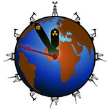 Duur Vraag planeet vóór dode lijn royalty-vrije illustratie