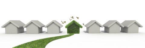 Duurzaam huis vector illustratie