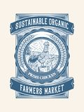 Duurzaam organisch kip de landbouw verpakkingsontwerp 2 stock afbeelding
