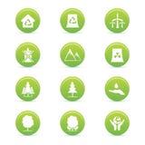 Duurzaamheidspictogrammen Stock Afbeelding