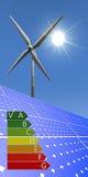 Duurzame energie - energieetiketten Royalty-vrije Stock Foto
