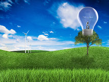 Duurzame energieidee Royalty-vrije Stock Afbeelding