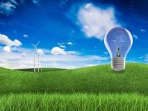 Duurzame energieidee Royalty-vrije Stock Foto's