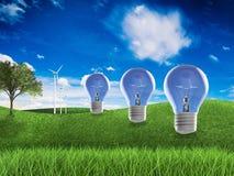 Duurzame energieidee Royalty-vrije Stock Foto