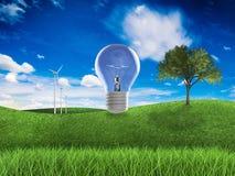 Duurzame energieidee Stock Afbeelding
