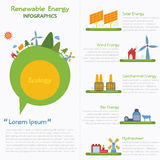 Duurzame energieinfographics Royalty-vrije Stock Foto
