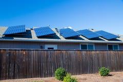 Duurzame Energiezonnepanelen Stock Afbeelding
