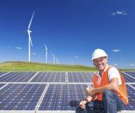 Duurzame schone energie Stock Foto's