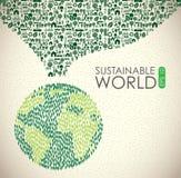 Duurzame wereld stock illustratie