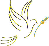 Duva av fred royaltyfri illustrationer