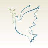 Duva av fred stock illustrationer