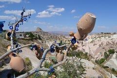 Duvadalen i den Cappadocia regionen Fotografering för Bildbyråer