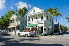 Duval街道在基韦斯特岛 库存图片