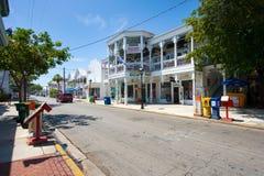 Duval街道在基韦斯特岛 免版税图库摄影