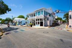 Duval街道在基韦斯特岛 免版税库存图片