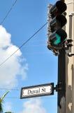 duval улица stoplight Стоковые Фото