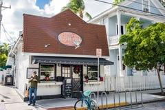 Duval gata i Key West Arkivfoton