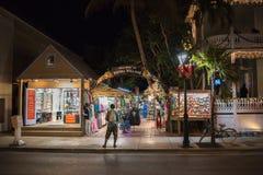 Duval gata i Key West Arkivbild