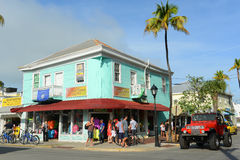 Duval Street in Key West, Florida Royalty Free Stock Photography