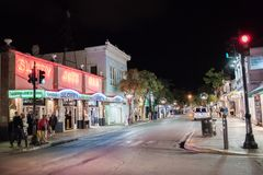 Duval Street in Key West, Florida. Royalty Free Stock Photos