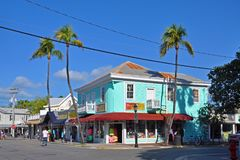 Duval Street in Key West, Florida, USA Royalty Free Stock Photos