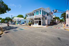 Duval street in Key West Royalty Free Stock Images