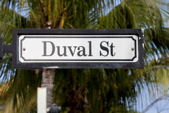 Duval Street (sign) - Key West Florida Stock Image