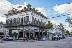 duval västra florida key gata Royaltyfri Fotografi