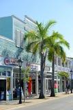 Duval街道在Key West,佛罗里达 免版税库存图片