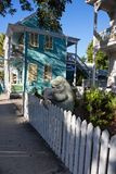 Duvalstraat in Key West van de binnenstad Royalty-vrije Stock Afbeeldingen