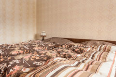 Duvet double bed Royalty Free Stock Image