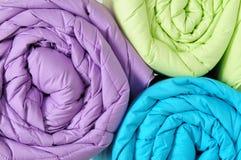 Duvet rolls. Royalty Free Stock Photo