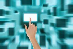 Duwende het toetsenbordknoop van de vinger Stock Afbeeldingen